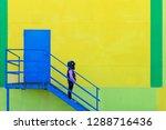 a model clothes walking street. ... | Shutterstock . vector #1288716436
