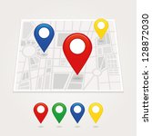 mapping pins icon | Shutterstock .eps vector #128872030