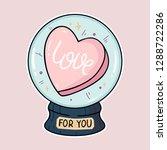 heart sticker. vector...   Shutterstock .eps vector #1288722286