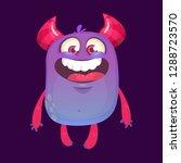 happy cartoon monster. vector... | Shutterstock .eps vector #1288723570