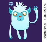 cute cartoon monster yeti with... | Shutterstock .eps vector #1288723573