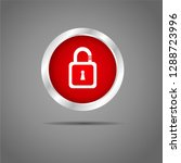 lock button red icon     Shutterstock .eps vector #1288723996