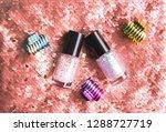 bright composition of fashion... | Shutterstock . vector #1288727719