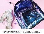 bright composition of fashion... | Shutterstock . vector #1288732069