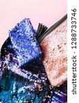 bright composition of fashion... | Shutterstock . vector #1288733746