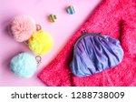 bright composition of fashion... | Shutterstock . vector #1288738009