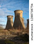 obsolete concrete cooling towers | Shutterstock . vector #1288738756