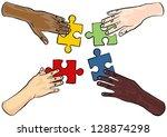 caucasian african asian indian... | Shutterstock .eps vector #128874298