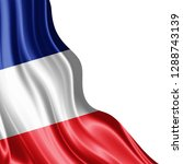 france flag of silk with... | Shutterstock . vector #1288743139