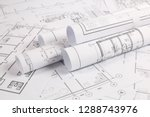 architectural plan. engineering ... | Shutterstock . vector #1288743976