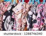 local fabric is sold along the... | Shutterstock . vector #1288746340