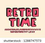 retro alphabet 3d design.... | Shutterstock .eps vector #1288747573