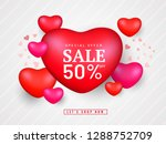 sale poster or banner design... | Shutterstock .eps vector #1288752709