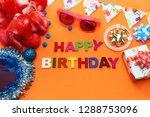 happy birthday greeting card... | Shutterstock . vector #1288753096
