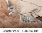 fabric and objects for sewing...   Shutterstock . vector #1288753189