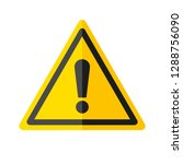 danger sign icon in flat style... | Shutterstock .eps vector #1288756090
