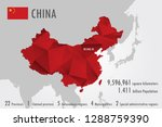 china map with a geometric... | Shutterstock .eps vector #1288759390
