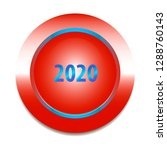 red button with text 2020 on...   Shutterstock .eps vector #1288760143