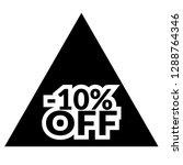 10  off sticker label.   Shutterstock .eps vector #1288764346