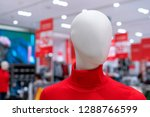 mannequin in a red sweater in... | Shutterstock . vector #1288766599