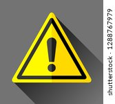 danger sign icon in flat style... | Shutterstock .eps vector #1288767979
