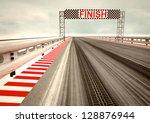 tyre drift on race circuit... | Shutterstock . vector #128876944