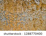 rust on surface of steel plate. | Shutterstock . vector #1288770400