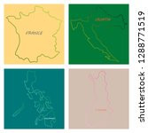 world map countries in color on ... | Shutterstock .eps vector #1288771519