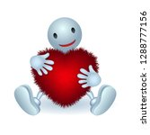 man hugs fluffy heart  with no...   Shutterstock .eps vector #1288777156