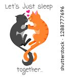 two cute cats are sleeping... | Shutterstock .eps vector #1288777696
