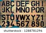 old plastic stencil    Shutterstock . vector #1288781296