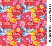 hand drawn seamless background... | Shutterstock . vector #1288782553