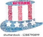 map redrawing in gerrymandering ... | Shutterstock .eps vector #1288790899