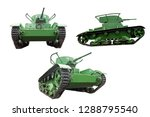 green tank isolated on white... | Shutterstock . vector #1288795540