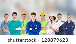 group of people with different... | Shutterstock . vector #128879623