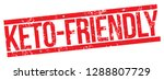 keto friendly rubber stamp | Shutterstock .eps vector #1288807729