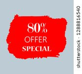 80  special offer sign over art ... | Shutterstock .eps vector #1288816540