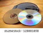 Blank Dvd Disks And Black Disk...