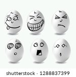 funny eggs. this is image of... | Shutterstock .eps vector #1288837399