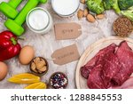 foods for muscles building.... | Shutterstock . vector #1288845553