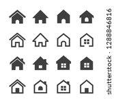 vector house icons set | Shutterstock .eps vector #1288846816