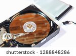 hard disk drive inside. data...   Shutterstock . vector #1288848286