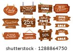wooden sale sticker. season... | Shutterstock .eps vector #1288864750