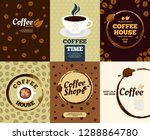 coffee posters. cafe stain... | Shutterstock .eps vector #1288864780