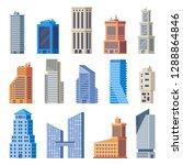 city office buildings. glass... | Shutterstock .eps vector #1288864846