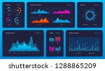 charts dashboard. financial... | Shutterstock .eps vector #1288865209