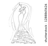 vector fashion illustration.... | Shutterstock .eps vector #1288865626