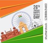 illustration of indian... | Shutterstock .eps vector #1288865683