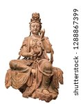 Ancient Chinese Woodcarving Buddha Statue: Guanyin