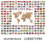 world map and world countries... | Shutterstock .eps vector #1288871980